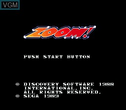 Title screen of the game Zoom! on Sega Megadrive
