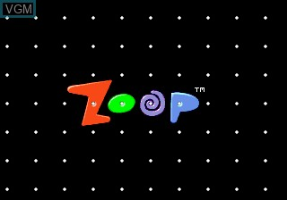 Title screen of the game Zoop on Sega Megadrive
