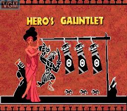 Menu screen of the game Hercules 2 on Sega Megadrive