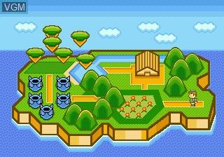 Menu screen of the game Whac-A-Critter on Sega Megadrive
