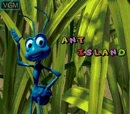 Menu screen of the game Bug's Life, A on Sega Megadrive