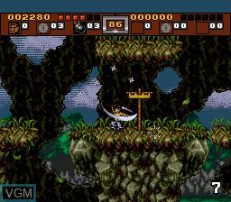 Menu screen of the game 3 Ninjas Kick Back on Sega Megadrive