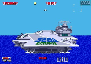 Menu screen of the game After Burner II on Sega Megadrive