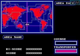 Menu screen of the game Air Diver on Sega Megadrive