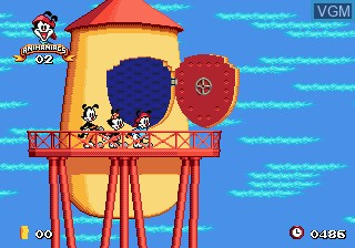 Menu screen of the game Animaniacs on Sega Megadrive