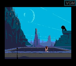 Menu screen of the game Another World on Sega Megadrive