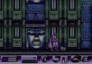 Menu screen of the game Batman Returns on Sega Megadrive