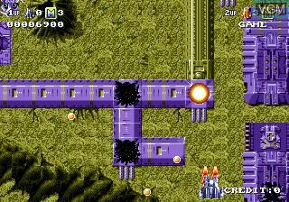 Menu screen of the game Battle Squadron on Sega Megadrive