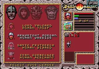 Menu screen of the game Battlemaster on Sega Megadrive
