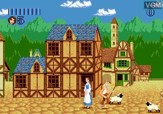 Menu screen of the game Beauty and the Beast - Belle's Quest on Sega Megadrive