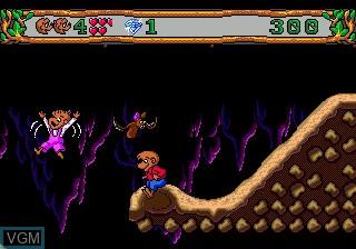 Menu screen of the game Berenstain Bears', The - Camping Adventure on Sega Megadrive