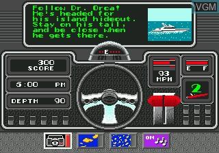 Menu screen of the game Bimini Run on Sega Megadrive