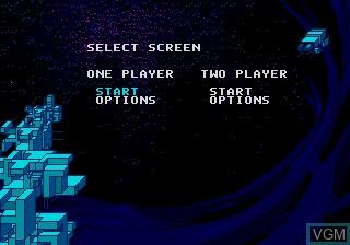 Menu screen of the game Block Out on Sega Megadrive