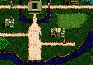 Menu screen of the game Blue Almanac on Sega Megadrive