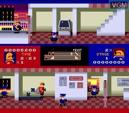 Menu screen of the game Bonanza Bros. on Sega Megadrive