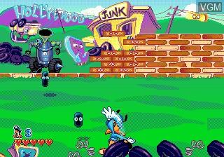 Menu screen of the game Bonkers on Sega Megadrive