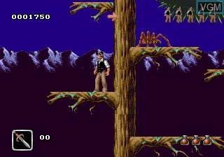 Menu screen of the game Bram Stoker's Dracula on Sega Megadrive