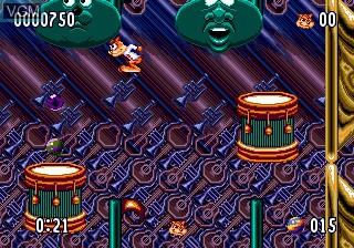 Menu screen of the game Bubsy II on Sega Megadrive