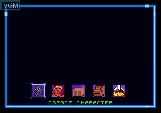 Menu screen of the game Buck Rogers - Countdown to Doomsday on Sega Megadrive
