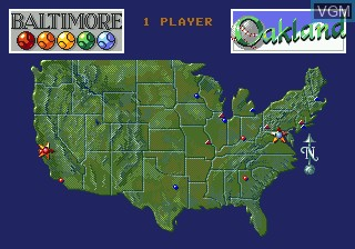 Menu screen of the game Cal Ripken Jr. Baseball on Sega Megadrive