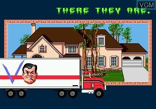 Menu screen of the game Haunting Starring Polterguy on Sega Megadrive