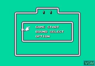 Menu screen of the game Marvel Land on Sega Megadrive