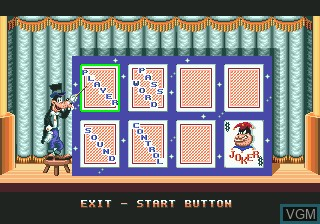 Menu screen of the game World of Illusion Starring Mickey Mouse & Donald Duck on Sega Megadrive