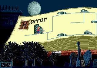 Menu screen of the game Pagemaster, The on Sega Megadrive