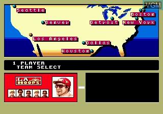 Menu screen of the game Pat Riley Basketball on Sega Megadrive