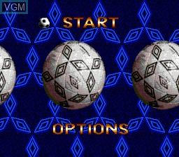 Menu screen of the game Pele! on Sega Megadrive