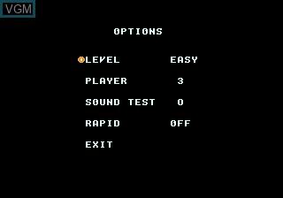 Menu screen of the game Raiden Trad on Sega Megadrive