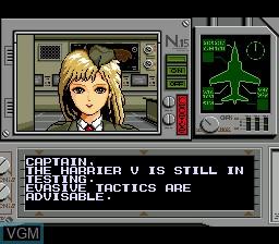 Menu screen of the game Task Force Harrier EX on Sega Megadrive