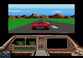 Menu screen of the game Technocop on Sega Megadrive