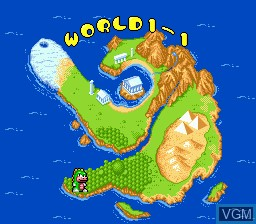 Menu screen of the game Wani Wani World on Sega Megadrive