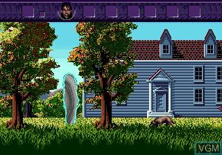 Menu screen of the game Warlock on Sega Megadrive