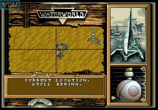 Menu screen of the game Waterworld on Sega Megadrive
