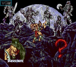 Menu screen of the game Weaponlord on Sega Megadrive