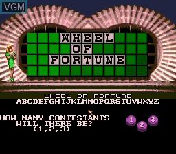 Menu screen of the game Wheel of Fortune on Sega Megadrive