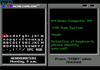 Menu screen of the game Where in the World is Carmen Sandiego on Sega Megadrive