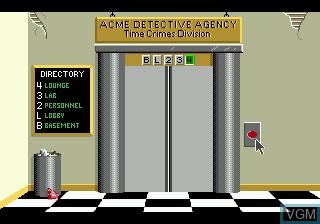 Menu screen of the game Where in Time is Carmen Sandiego on Sega Megadrive