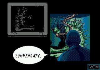 Menu screen of the game Wolverine Adamantium Rage on Sega Megadrive