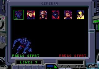 Menu screen of the game X-Men 2 - Clone Wars on Sega Megadrive