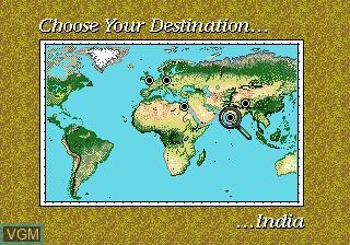 Menu screen of the game Young Indiana Jones - Instrument of Chaos on Sega Megadrive