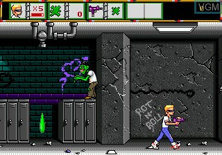 In-game screen of the game Zombie High on Sega Megadrive