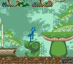 In-game screen of the game Bug's Life, A on Sega Megadrive