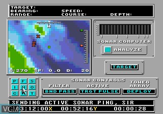 In-game screen of the game 688 Attack Sub on Sega Megadrive