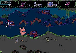In-game screen of the game AAAHH!!! Real Monsters on Sega Megadrive