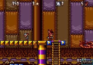 In-game screen of the game Aero the Acro-Bat on Sega Megadrive