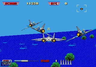 In-game screen of the game After Burner II on Sega Megadrive