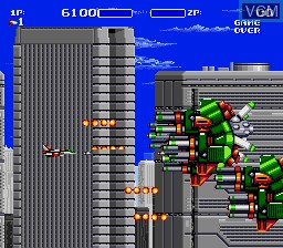 In-game screen of the game Air Buster on Sega Megadrive